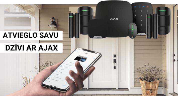 AJAX - drošības sistēma - atvieglo dzīvi