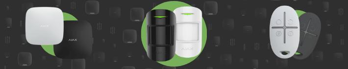 AJAX kustību detektoru un sensoru dizains