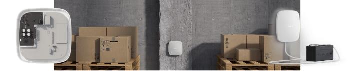 AJAX-drošības sistēma - baterija un barošanas bloks